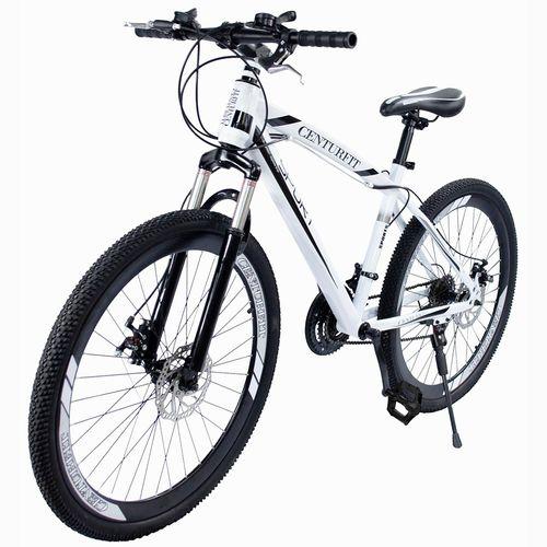Bicicleta Montaña Suspension R26-21 Velocidades Centurfit Bici Blanca