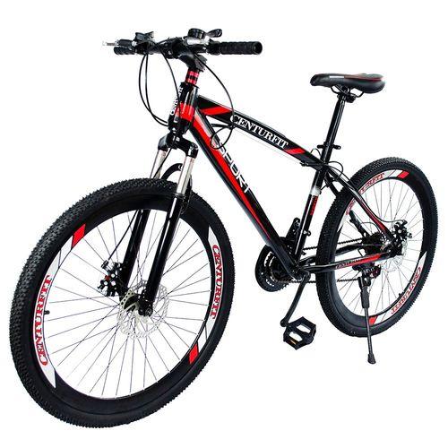 Bicicleta Montaña Suspension R26-21 Velocidades Centurfit Bici Roja