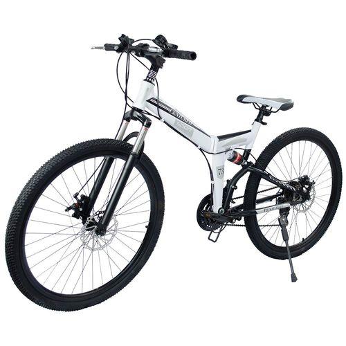 Bicicleta Montaña Plegable Rodada26-21velocidades Centurfit Bicicleta Blanca