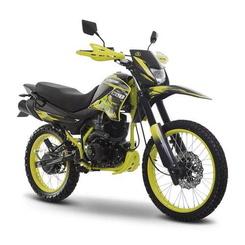 Motocicleta Doble Propósito Italika DM200 Amarilla