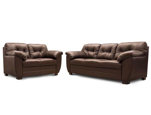 Sala de Piel Genuina Derby Sofa y Love