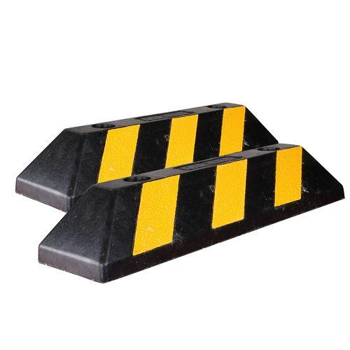 Tope Estacionamiento Mikels Negro Amarillo Seguridad