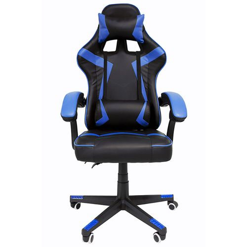 Silla Gamer Ergonómica Reclinable 200Kg Gaming Videojuegos Azul