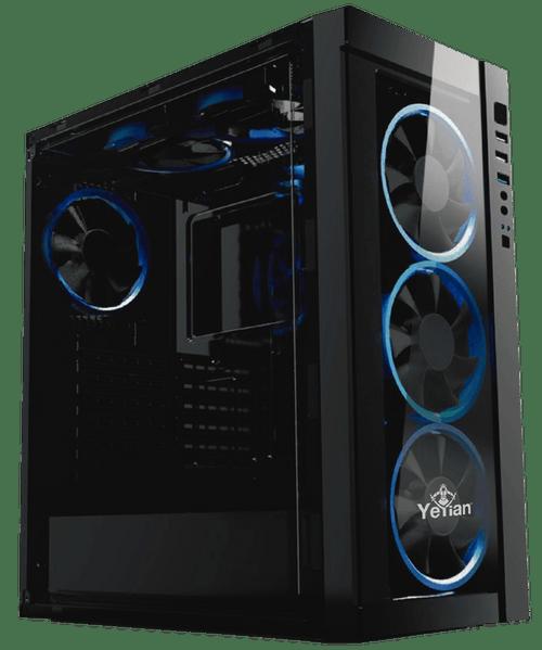 Gabinete gaming Yeyian blade 2100, micro atx, sin Fuente de poder, negro/led azul (ynh-b2100)