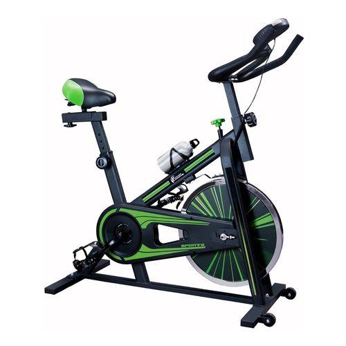 Bicicleta Fija Spinning Profesional 10kg Fitness Cardio Gym Verde Centurfit mkz Jinyuan 10kg