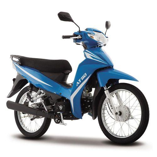 Motocicleta de Trabajo Italika AT110 Azul con Blanco