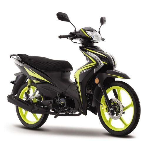 Motocicleta de Trabajo Italika AT125 RT Negra con Amarillo