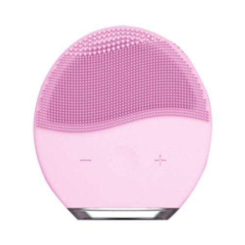 Cepillo limpiador facial con silicona higienica - Zeta - Pink