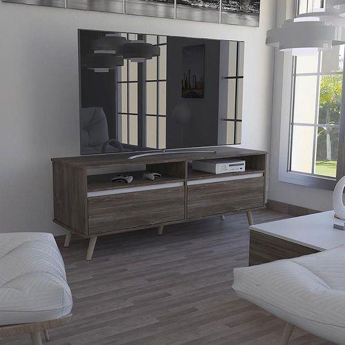 """Mueble para TV Almeria 50"""" Siena con Blanco"""