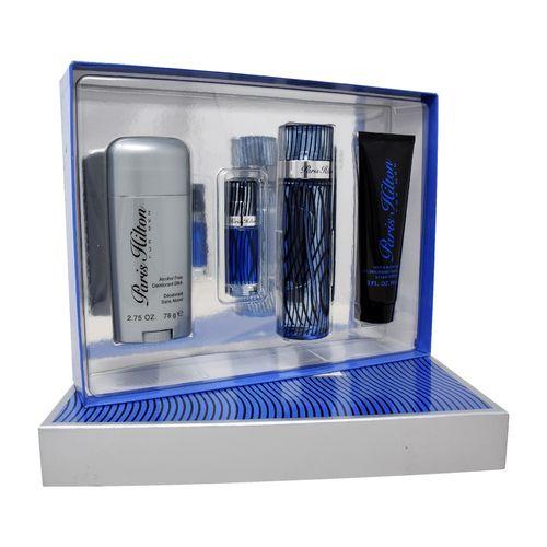 Set Paris Hilton Men 4Pzs 100ml Edt Spray+Shower Gel 90ml+10ml Edt Spray+Desodorante Stick 78G
