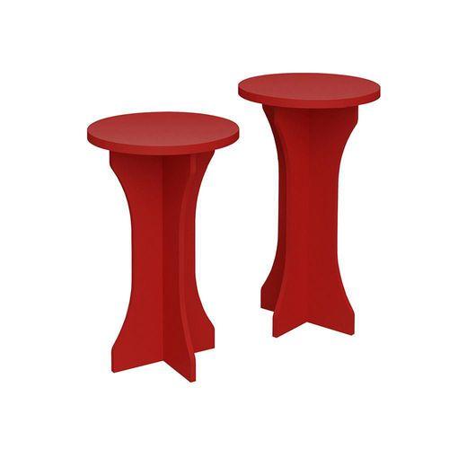 Set de 2 Mesas Laterales Luck Rojo