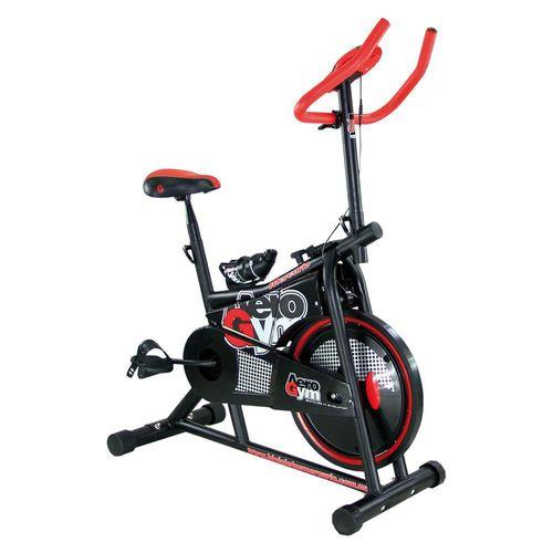Bicicleta de Ejercicio Aerogym Mercurio 404583 Rojo con Negro