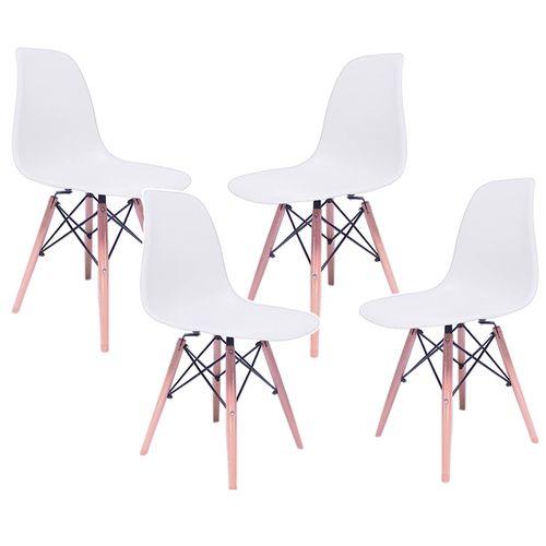 Silla Eames Kit 4 Sillas Comedor Decoracion Hogar Minimalista Blanca