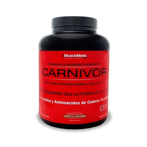 Proteína Carnivor MuscleMeds 4.5Lbs Vainilla Caramelo