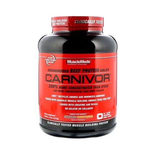 Proteína Carnivor MuscleMeds 4.5Lbs Mantequilla de Maní