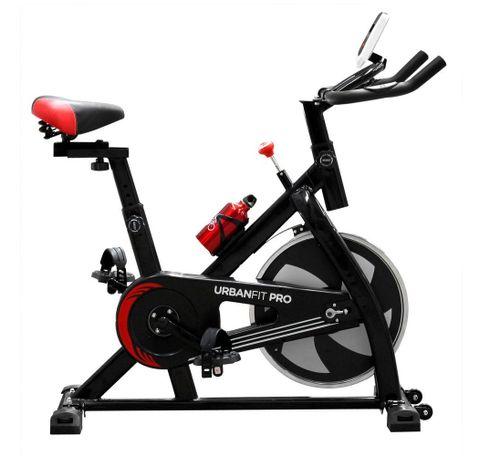 Bicicleta Spinning Fija UrbaNfit 7kilos Hogar Fitness Cardio Negro