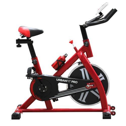 Bicicleta Spinning Fija UrbaNfit 7kilos Hogar Fitness Cardio Roja