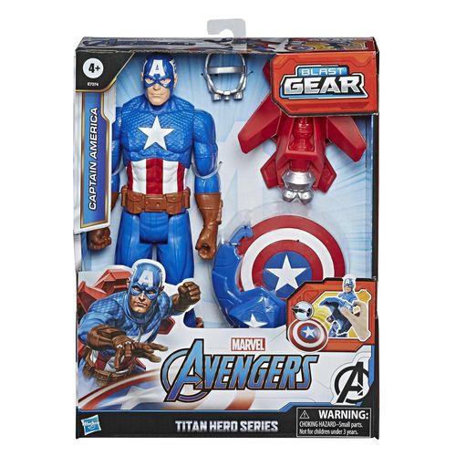 Figura de Acción Titan Hero Capitan America Marvel E7374