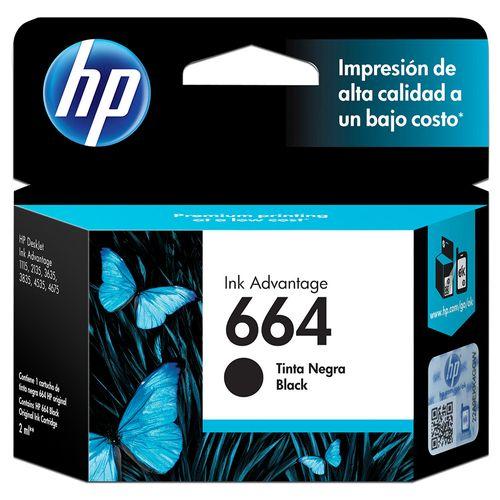 Cartucho de Tinta  HP 664 Negro F6V29AL