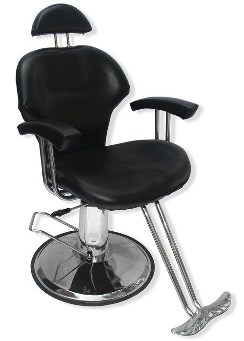 Sillon Silla Barbero Estetica Hidraulica Reclinable Salon Negro