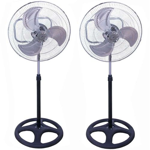 "Ventilador 3 en 1 Kit 2 Ventiladores Aspas Metalicas 18"" Altura 1.3 mts"