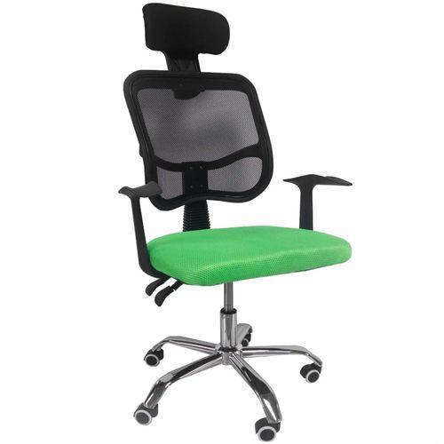 Silla Oficina Reclinable Cabecera Ajustable Sillón Ejecutivo Ergonómico Verde