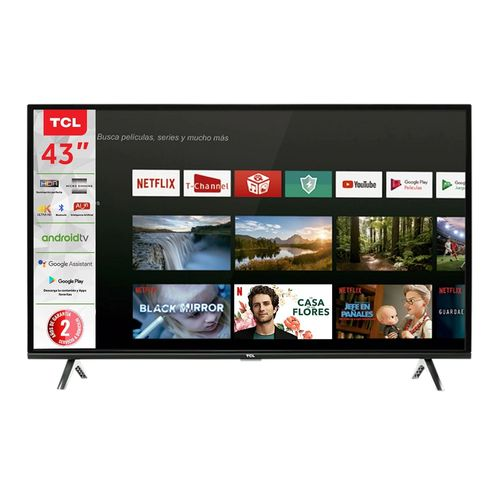 Smart TV 43 TCL Android TV 4K UHD Bluetooth HDR10 43A423