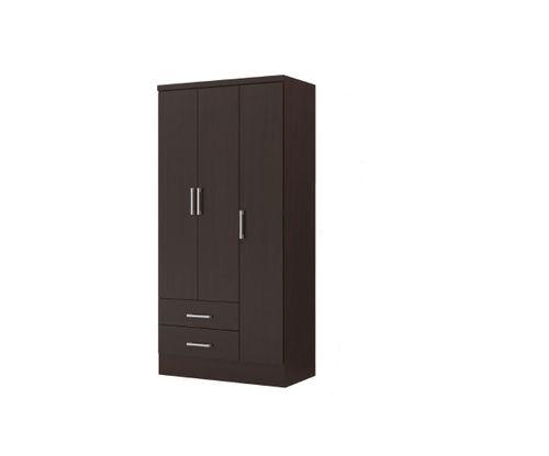 Ropero Closet Bertolini 583 3 Puertas 2 Cajones - Chocolate