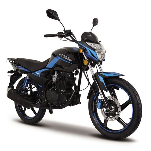Motocicleta de Trabajo Italika FT180 TS Negra con Azul