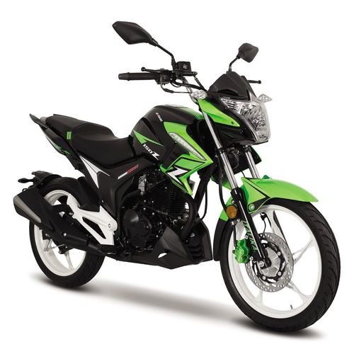 Motocicleta Italika 150Z Negra con Verde