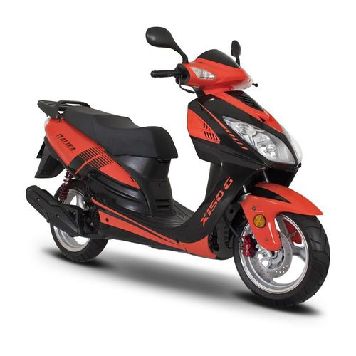 Motoneta Italika X150G Naranja con Negro