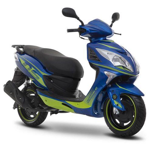 Motoneta Italika DS150G Azul con Verde