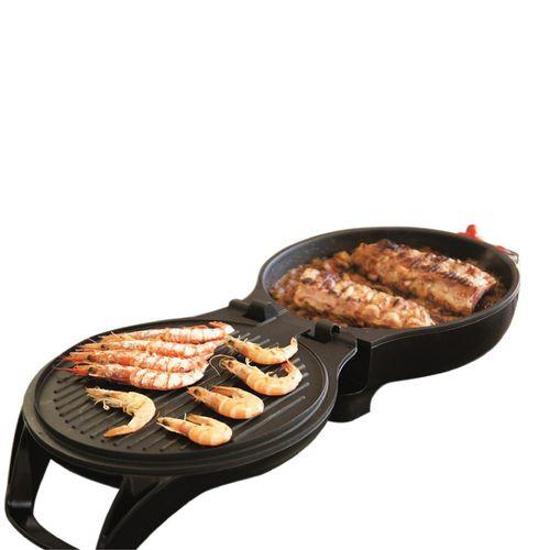 Parrilla Plancha Sartén Meat Roaster 3 En 1 Electrico
