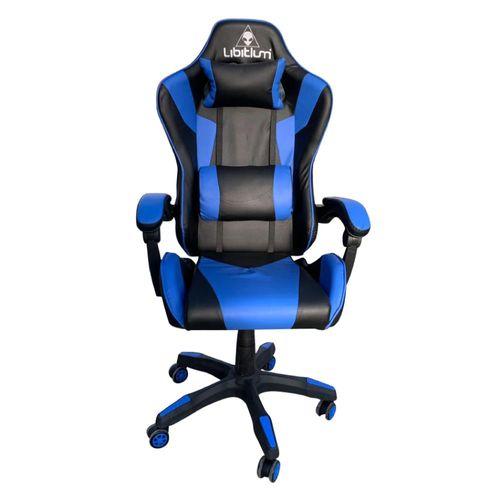 Silla Gamer Libitium Gaming Consola Pc Ergonómica Reclinable Azul