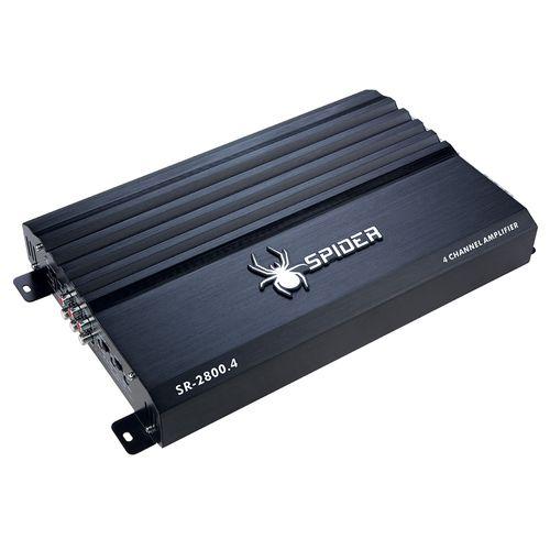 Amplificador Para Auto 4 Canales Sr-2800.4bk Spider Negro