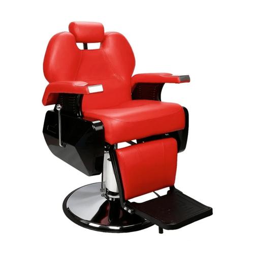 Sillon Barbero Peluqueria Silla Barberia Estetica Stay Elit Rojo
