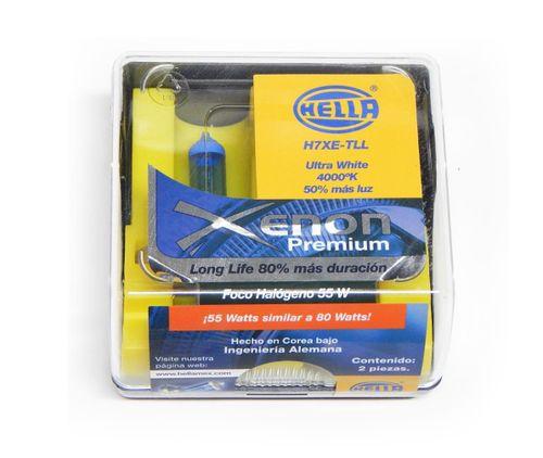 Foco H7 Hella Luz Blanca Tipo Xenon Premium 55 Watts 2 Focos