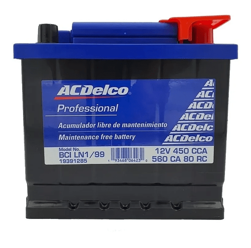 Bateria ACDelco Spark 2016-2017