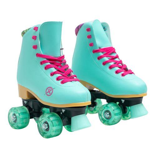 Patines de 4 ruedas para niñas Fuxion Sports Aqua Talla 22