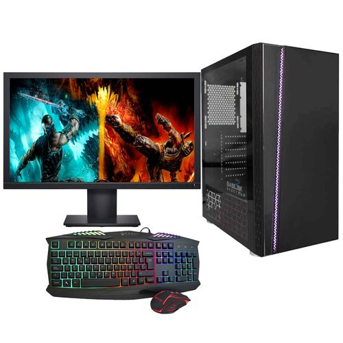 PC GAMING RYZEN 3 16GB RAM DDR4 SSD 480GB KIT TEC MOUSE MONITOR 21.5