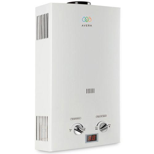 AVERA Calentador Boiler de Agua Instantáneo 6 Litros para Gas Natural 1 Servicio C6LNAT
