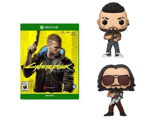 Cyberpunk 2077 Xbox One + 2 funkos (V-Male & Johnny)