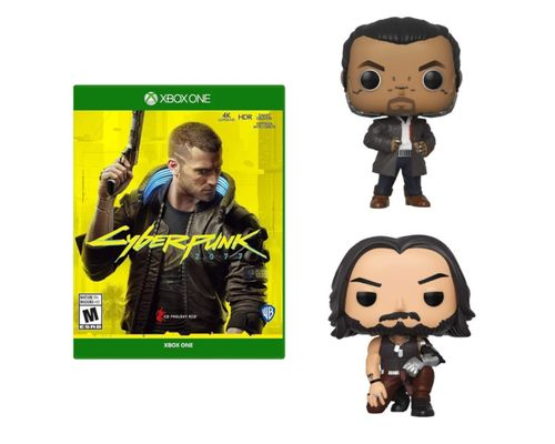Cyberpunk 2077 Xbox One + 2 funkos (Takemura & Johnny)