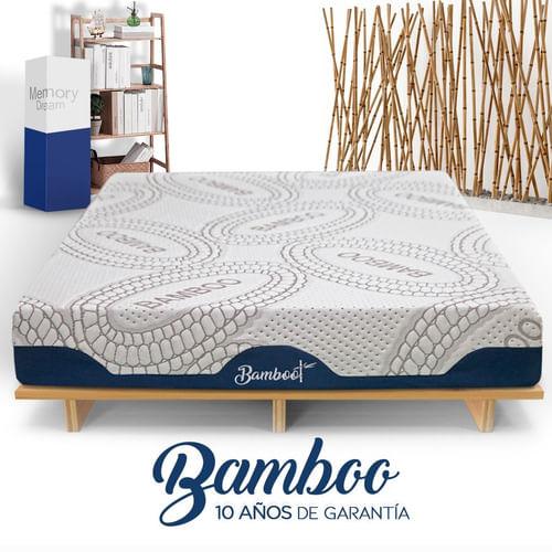 Colchón Memory Foam Bamboo En Caja King