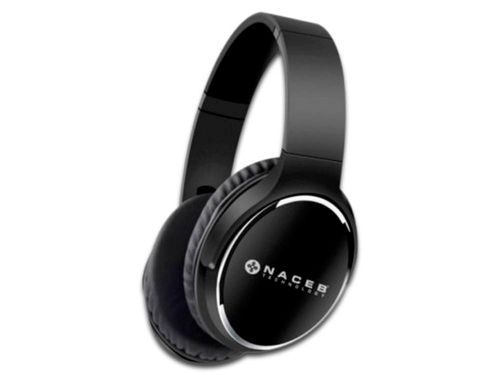 Audífonos tipo diadema Naceb NA-0308N, Bluetooth, Color Negro.