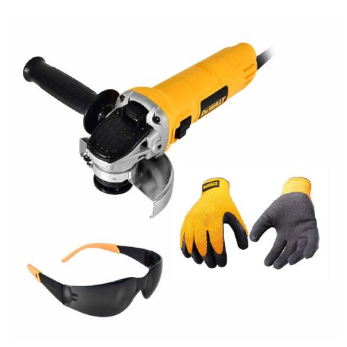 Esmeriladora Angular 4-1/2 Plg 800w C/guantes Y Gafas Dewalt