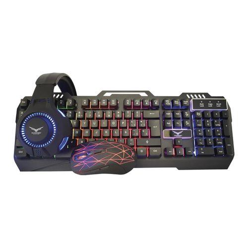 Kit Gamer NACEB Teclado Mouse Headset Mousepad NA-0925