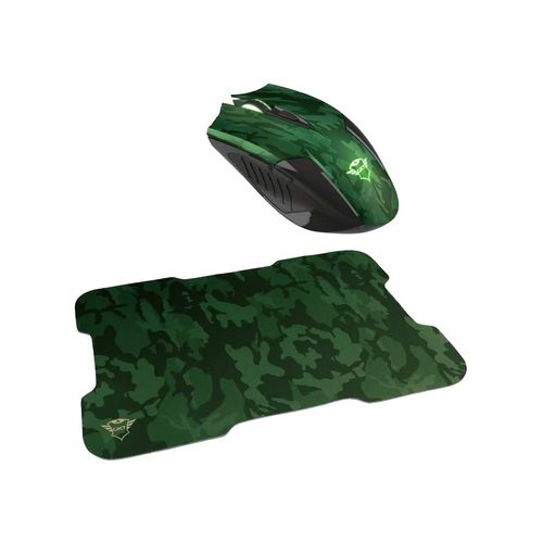 Trust Gaming Pack De Mouse & Mouse Pad Rixa Camuflaje