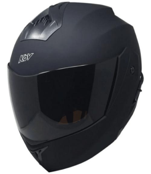 Casco abatible para moto KOV Stealth negro mate lente interno talla S