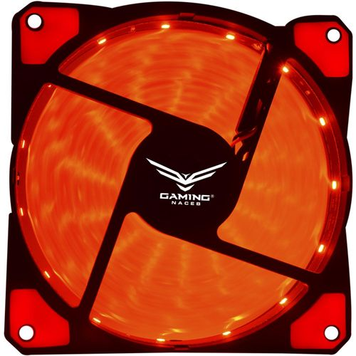 Ventilador Gamer NACEB NA-0920 12V 120mm Led Rojo NA-0920R